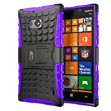 Bayke Brand / Nokia Lumia Icon 929 930 Smartphone 2-Piec Dual Layer Tire Tread Combo Heavy Duty Rugged Matte Skidproof Hard Protective Case Cover with Built-in Kickstand with Soft TPU Inner