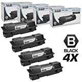 LD Compatible Replacements for Kyocera-Mita TK-1142 Set of 4 Black Laser Toner Cartridges for use in Kyocera-Mita FS-1035 MFP, FS-1135 MFP, and Laser M2035dn Printers
