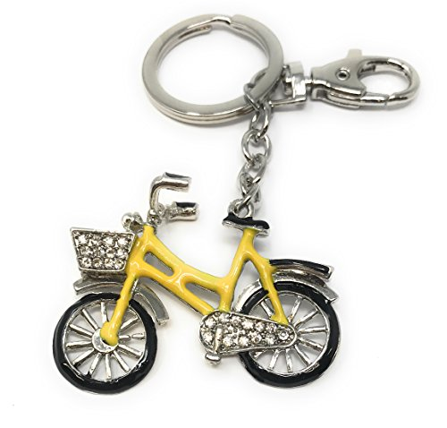 Value Arts Bejeweled Vintage Bike Key Chain, 4.25 Inches Long