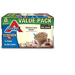 Atkins Ready to Drink Protein Rich Shake, Mocha Latte, 8 Count