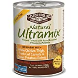 Natural Ultramix Whole Chicken Thigh, Fresh Cut Carrots & Sweet Potatoes Entree Grain-Free for Adult Dogs, 13.2-Ounce Cans, Pack of 12 cans