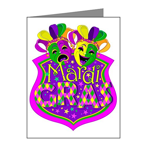 Greeting Cards (10 Pack) Mardi Gras Comedy Tragedy