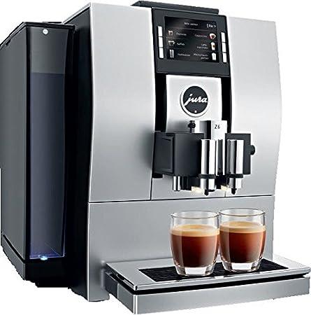 JURA Z6 Aluminium Independiente Totalmente automática - Cafetera (Independiente, Cafetera combinada, 2,4 L, Granos de café, De café molido, Molinillo integrado, Almendra, Negro): Amazon.es: Hogar