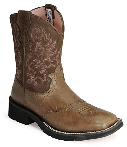 Ariat Womens Ranchbaby Square Toe Boots in Brown Rebel Size 7.5