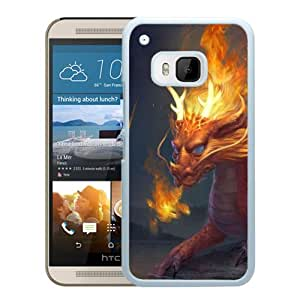 Beautiful And Unique Designed With Dragon Stone Water Fire (2) For HTC ONE M9 Phone Case