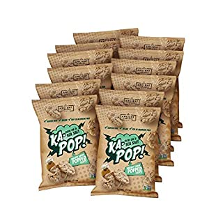Ka-Pop! Popped Chips, Olive Oil & Salt (1oz, Pack of 12) - Allergen Friendly, Sorghum, Gluten-Free, Paleo, Non-GMO, Vegan, Whole Grain Snacks, As Seen on Shark Tank