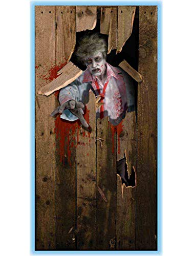 - Forum Novelties Photo-Realistic Zombie Door Cover, Multicolor