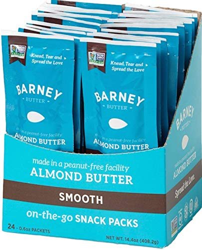Barney Butter Almond Butter Snack Pack, Smooth, 0.6 Ounce, 24 Count ()