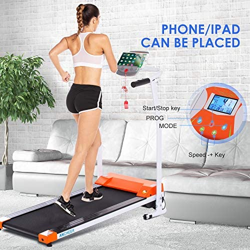 ANCHEER Treadmill, Electric Treadmills for Home with LCD Motorized Running Walking Jogging Exercise Fitness Machine Trainer Equipment for Home Gym Office 4