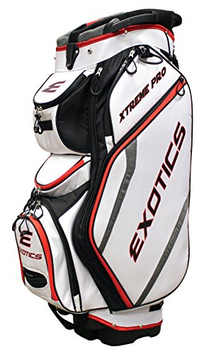 Tour Edge Exotics Extreme Pro Deluxe Cart Bag (Men's, Exotics Extreme Pro Deluxe Cart Bag White) (Golf Tour Bag)