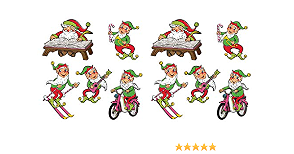 Multicolor 14.5-16.25 Beistle Vintage Christmas Glittered Angel Cutouts 6 Piece