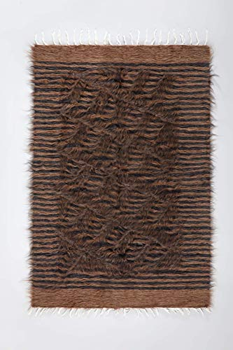 (Black and Brown - Mohair Kilim Rug FREE SHIPPING )