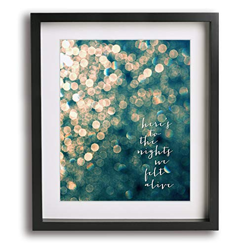 Here's To The Night | Eve 6 inspired song lyric art print - unique graduation gift idea ()