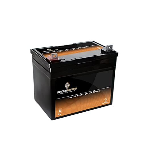 Chrome Battery 12V 35AH SLA U1 Battery for Kubota Case John Deere Dixie Chopper Riding Mower