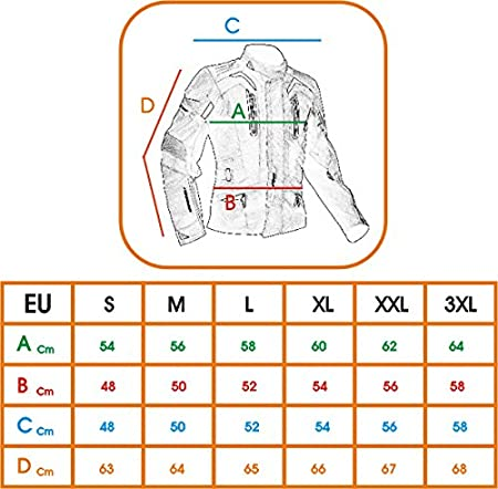Giacca Moto 3 Strati termica Impermeabile Sfoderabile Protezioni CE Fluo XXL