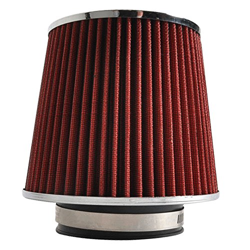 Air Filter Fits 1986-1998 Toyota Supra & 1985-2011 Corolla& 1985-2005 Celica & 2001-2012 Prius | KN Type Red 3.5 Cold Air Inlet Filter by IKONMOTORSPORTS | 1987 1988 1989 1990 1991 1992 1993 1994