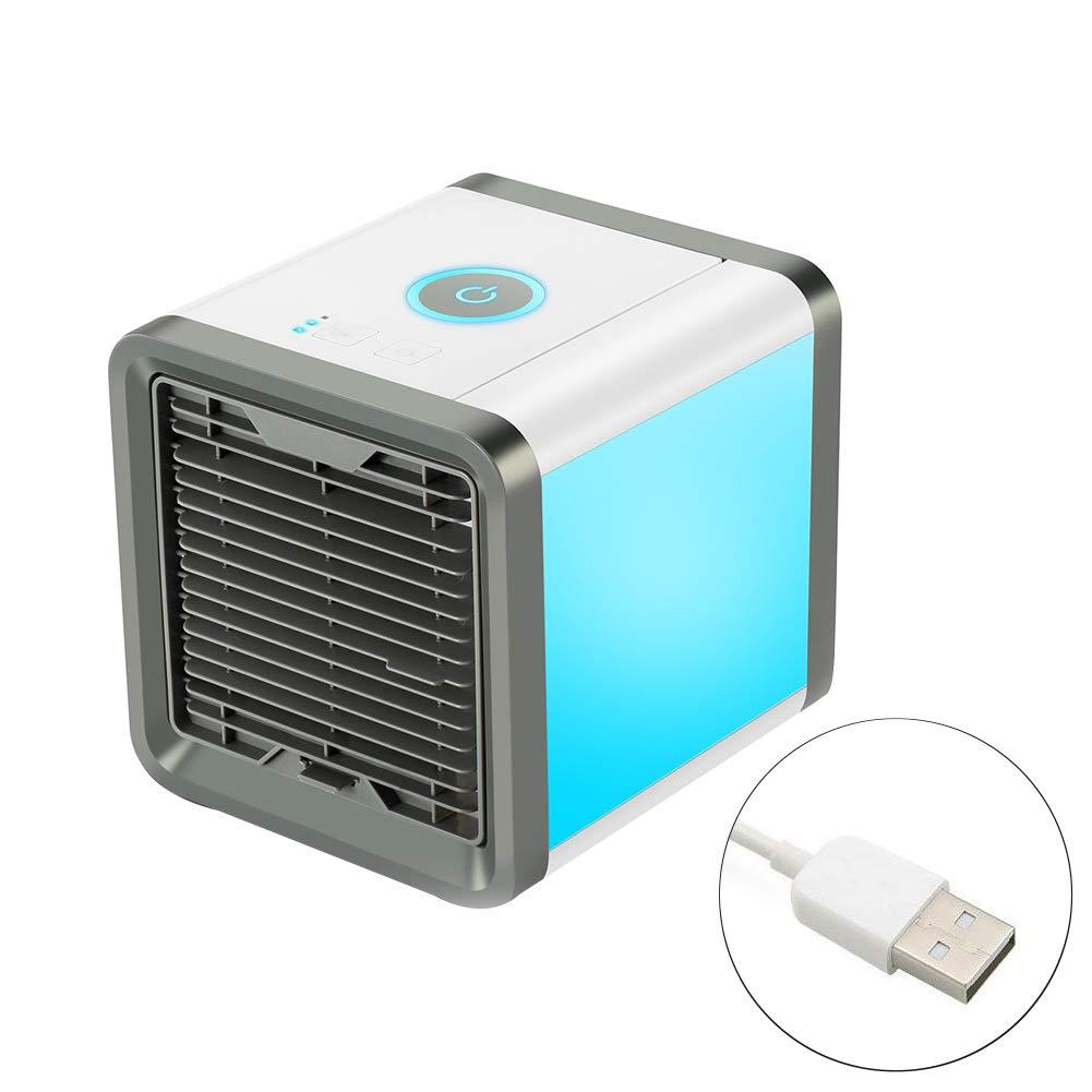 Gorgebuy Refrigerador de Aire TV Acondicionador de Aire con humidificador Funció n USB de Carga Ventilador Mini Aire Acondicionado portá til