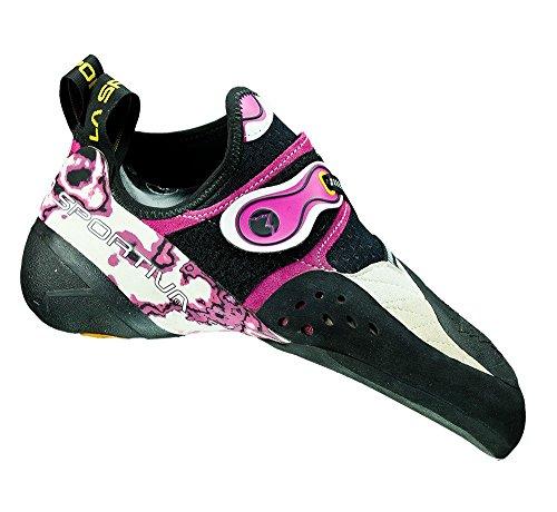 La Sportiva W Solution - White / Pink - EU 33.5 / UK 1.5 / US 3.5 - Innovativer präziser Damen Kletterschuh