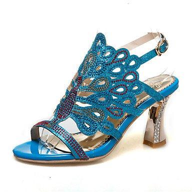 LvYuan Mujer-Tacón Robusto-Otro-Sandalias-Vestido Informal-PU-Azul Negro Oro Blue