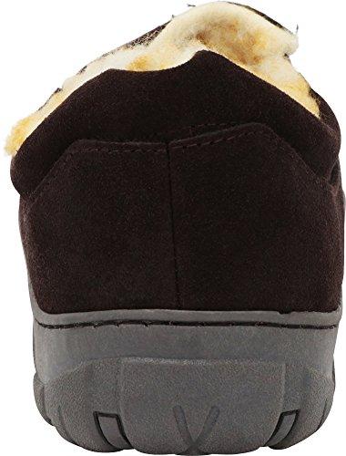 Tamarac by Slippers International Men's Conway Genuine Suede Lined Slipper, Rootbeer, 8M by Tamarac (Image #3)