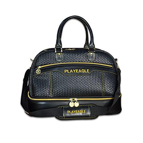 playeagle織り防水大容量ゴルフボストンバッグPUレザーTravel Duffel Bag with Shoe Layer B07B2JK279