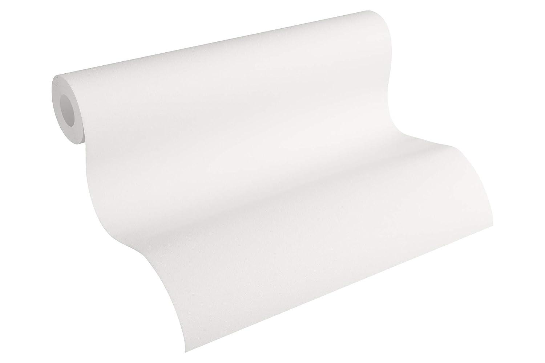 Cr/éation papel pintado de tejido-no-tejido Spot blanco 10,05 m x 0,53 m 230928 A.S