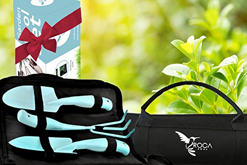 Garden Tools Set - Gardening Tools with Garden Tools Carry Bag by ROCA. Great Gardening Gifts. Gardening Guide Included by ROCA Home (Image #4)