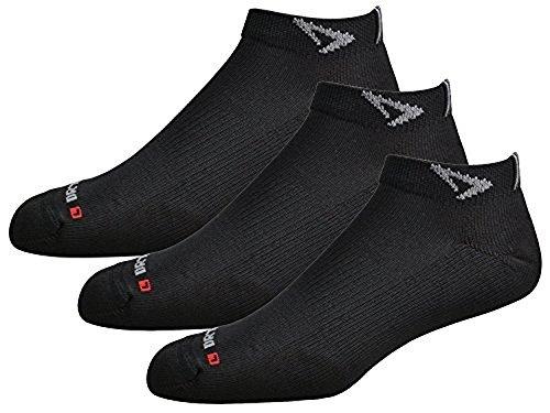 Drymax Socks Run Mini Crew - Black W5-7, M3.5-5.5 - 3 Pack
