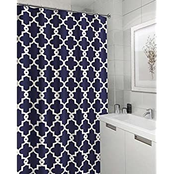 Geometric Patterned Shower Curtain 70 Inch By 72