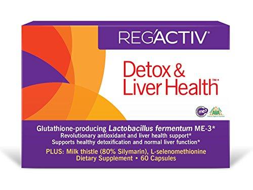 REG#039ACTIV Detox amp Liver Health 60 Capsules with Glutathioneproducing Lactobacillus fermentum ME3