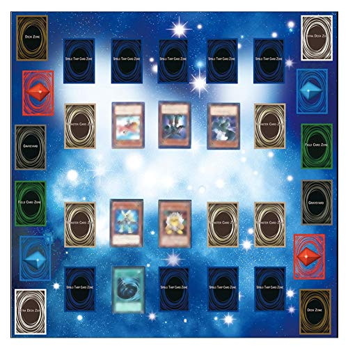 Binmer Play Mat,Rubber Play Mat 60x60cm Galaxy Style Competition Pad Playmat For Yu-gi-oh Card