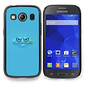 Stuss Case / Funda Carcasa protectora - Blue Frog Cartoon Grumpy Monster - Samsung Galaxy Ace Style LTE/ G357