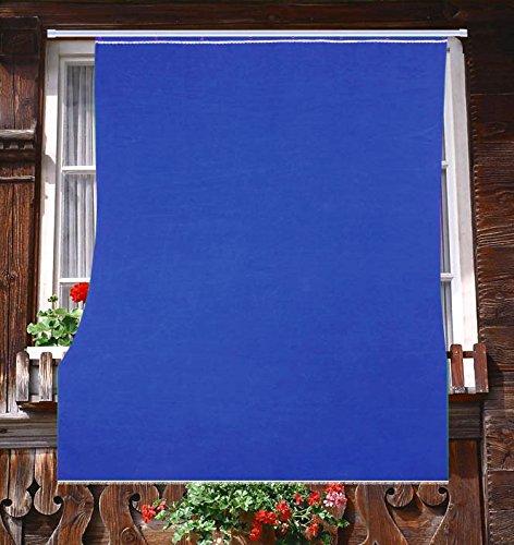 Tenda da Sole da Esterno per Balcone in Tessuto Resistente Misura cm 200x295 in 100% Poliestere con Anelli Dis. 5 Blu Tata Home
