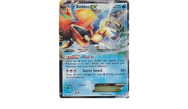 Pokèmon Tarjeta de Comercio KELDEO EX(BW11 Legendary ...