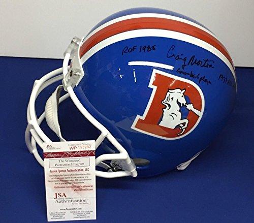 Craig Morton Signed Denver Broncos F/S Replica Helmet