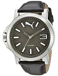 PUMA Women's PU103462008 Ultrasize LDS Leather Analog Display Quartz Brown Watch