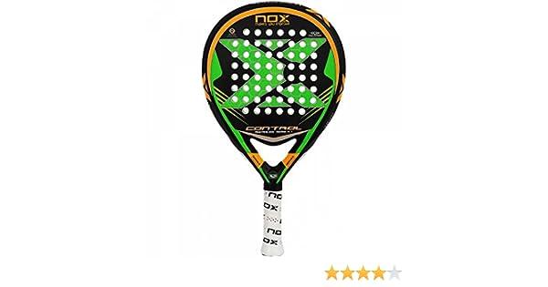 NOX Control 4 - Pala Unisex, Color Blanco/Verde / Plata, 38 mm: Amazon.es: Deportes y aire libre