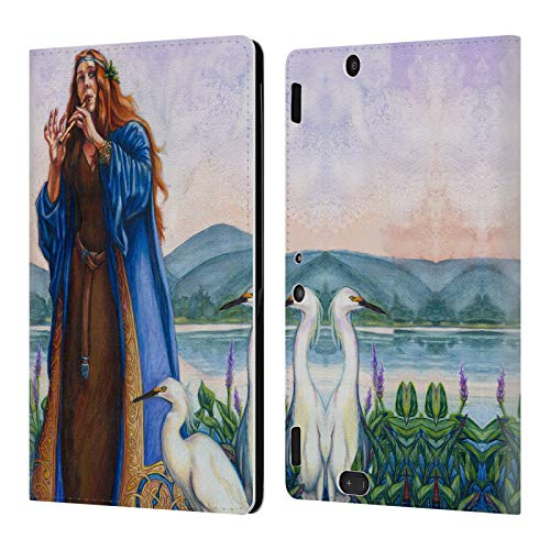 Official Jane Starr Weils Calling The Mist Goddess 2 Leather Book Wallet Case Cover Compatible for Amazon Kindle Fire HDX 8.9