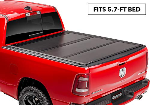 UnderCover Ultra FlexHard Folding Truck Bed Tonneau Cover| UX12018 |fits 2014-2018 Chevy Silverado/GMC Sierra  & 2019 Legacy/Limited, 5.8' Bed (Best Folding Tonneau Cover For Silverado)