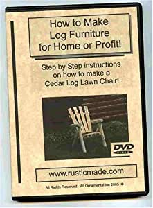 Make Cedar Log Lawn Furniture