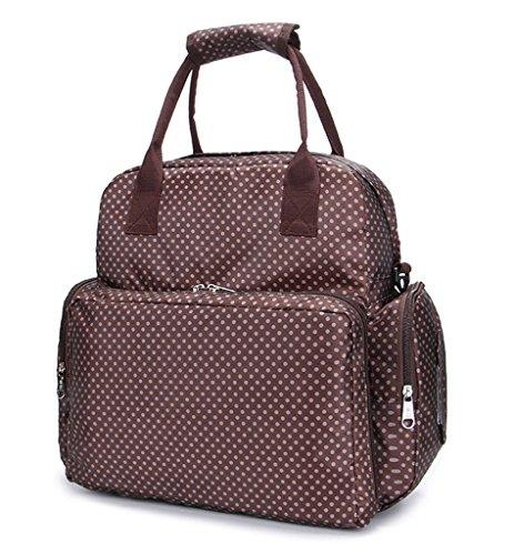 Cambiador Brown With Pañales Pañal Bolsa Gran Dots Capacidad Lcy Bebé De Con Black qT7a8