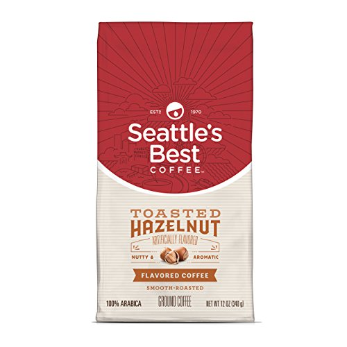 Seattle's Best Coffee Toasted Hazelnut Flavored Medium Roast Ground Coffee, 12 Ounce (Pack of 1) (Best Store Brand Coffee)