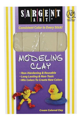 Sargent Art 224000 1Pound Solid Color Modeling Clay Cream