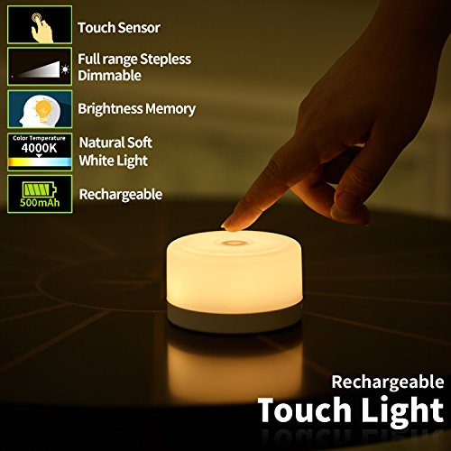 FC-Fancier Dimmable Light,Touch Sensor Bedside Lamp, Kids Children Adult Nightlight,Bedroom Living Room Baby Nursery Night Light