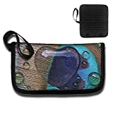 Gili Love Peacock Hair Travel Wallet Travel Passport & Document Organizer Zipper