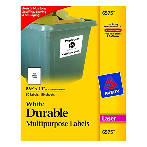 Avery Durable White Labels Printers