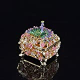 Peacock Jewelry Box Decorative Gift Collectable Ornament Vintage Pearl Necklace Bracelet Storage Organizer