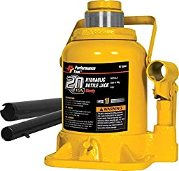 Performance Tool W1644 20 Ton (40,000 lbs.) Heavy Duty Shorty Bottle Jack