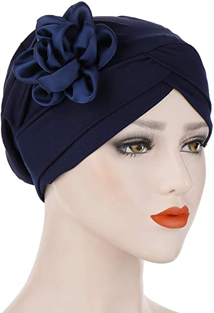 Women Muslim Stretch Turban Hat Chemo Cap Hair Loss Head Scarf ...