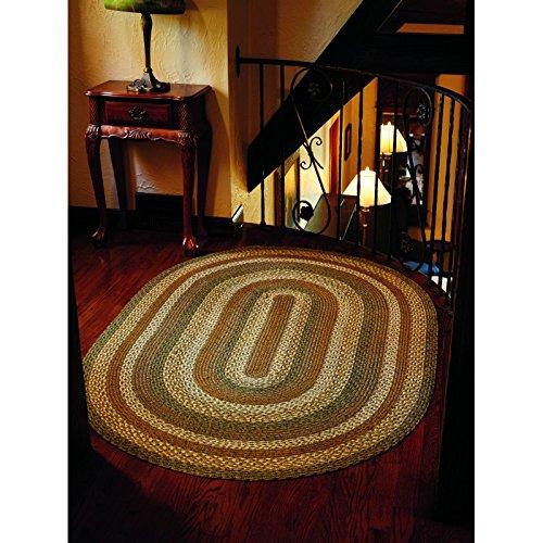 IHF HOME DECOR Oval Area Floor Carpet Braided Rug 20
